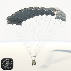 3D parachute ready games model