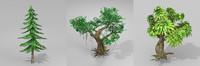 trees setting 3D model