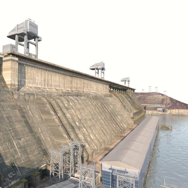 krasnoyarsk hydroelectric power station 3D