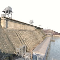 krasnoyarsk hydroelectric power station 3D
