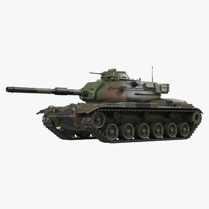 3D model combat tank m60a3 patton