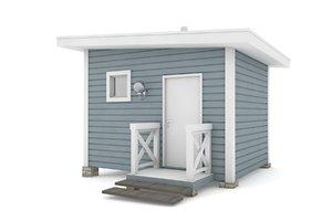 3D rest house american model