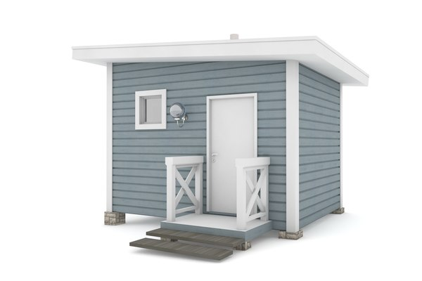 3D rest house american model