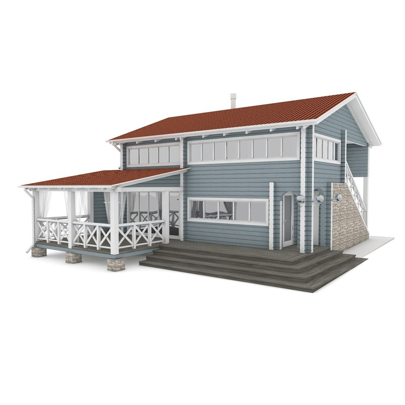 rest house american 3D