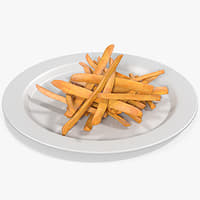 3D model french fries 4