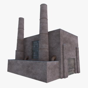 old brick factory 3D