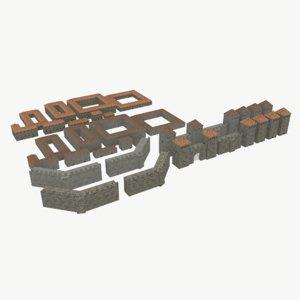 3D pack walls