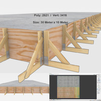 building site foundation 3D model