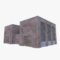 3D old brick factory 4 model