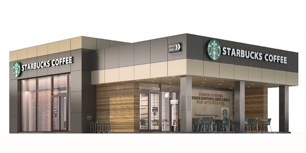 3D starbucks coffee shop
