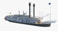 3D stern boat model