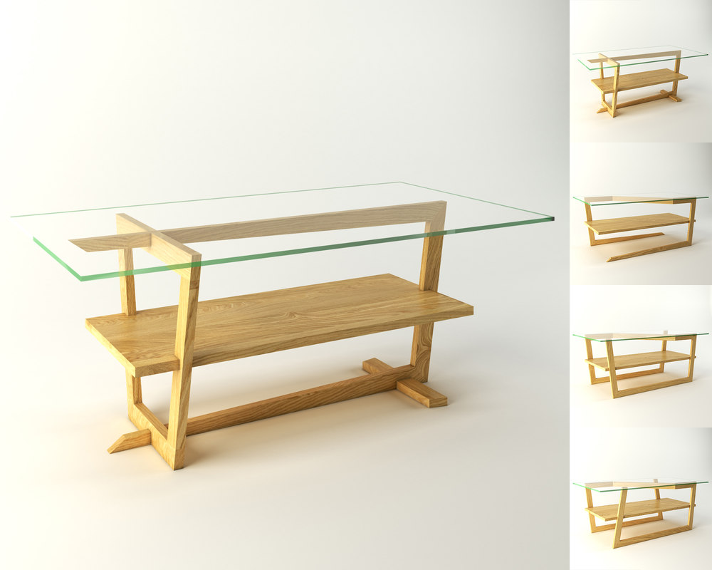 3D variations coffee table
