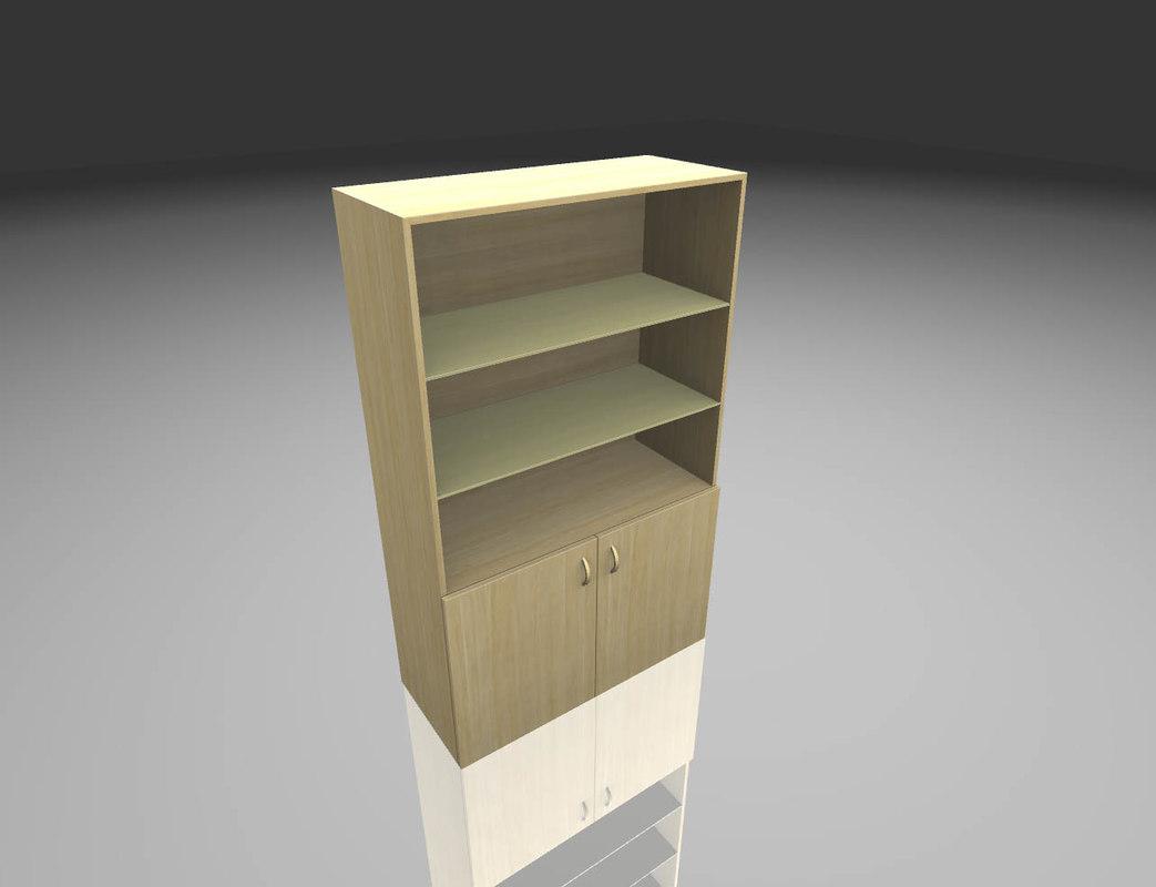 3D wood cabinet model