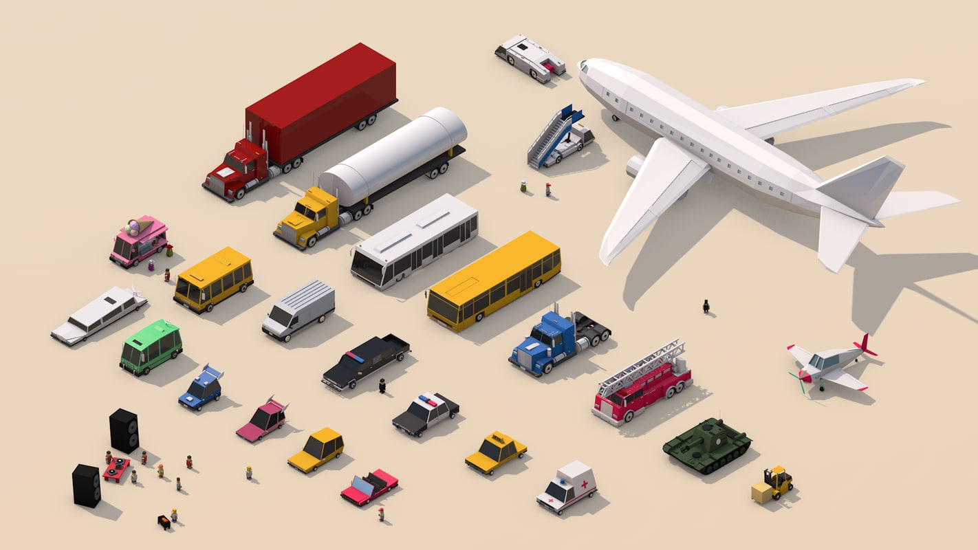 3D model vehicle pack city