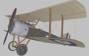 3D sopwith pup model