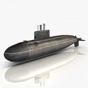 3D russian kilo class submarine model