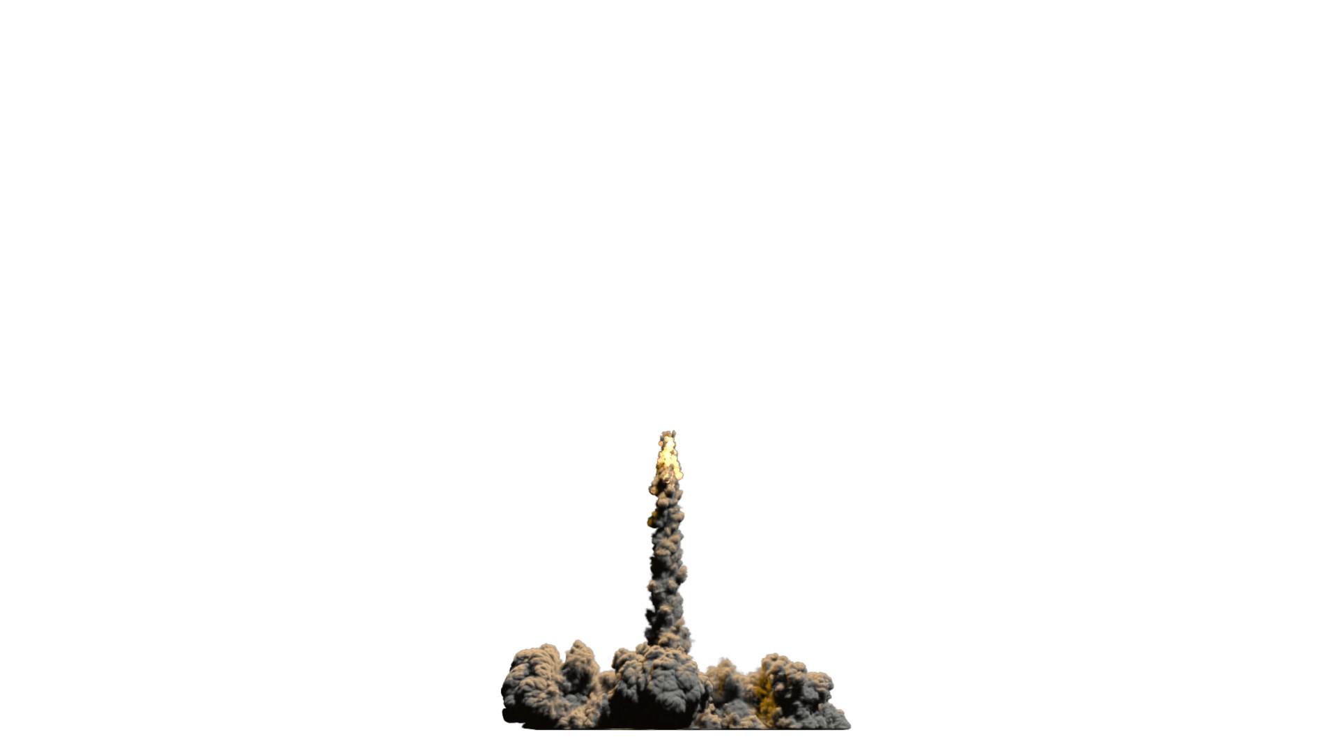 3D model rocket trail