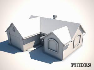 house untextured 3D model