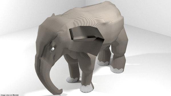 3D africa elephant model