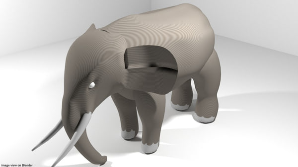 africa elephant 3D model