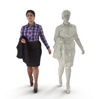 3D business woman jacket hand model