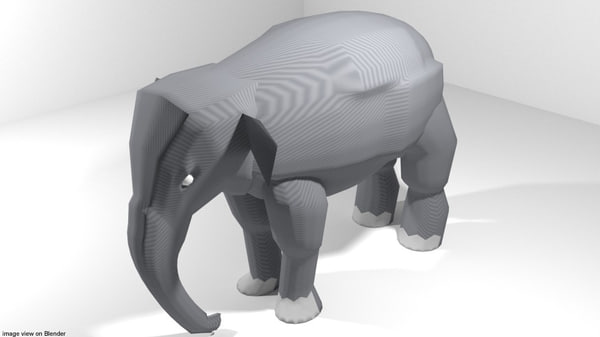 asia elephant 3D
