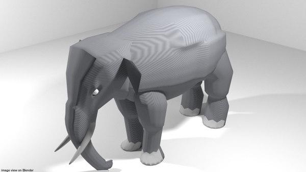 asia elephant 3D model