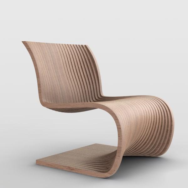 piegatto efi s chair 3D model