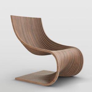 3D model piegatto uma chair