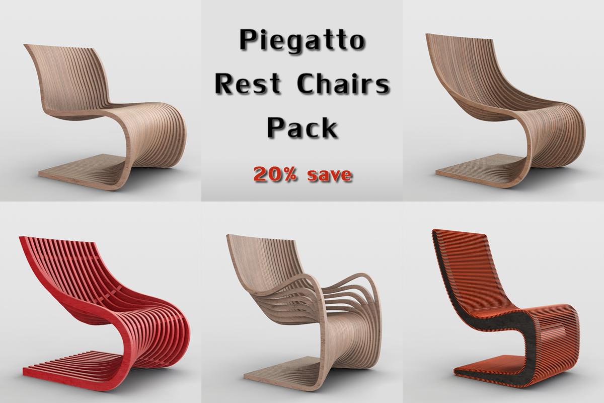 piegatto rest chairs 3D