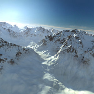 mountain snow range landscape 3D model