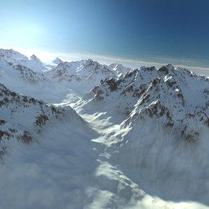 mountain snow range landscape 3D model