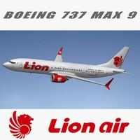 3D boeing 737 lion air model