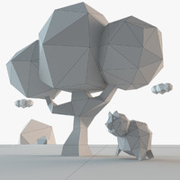 tree bear 3D model