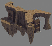 group mountain mount 3D model