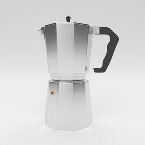 3D coffeepot coffee pot