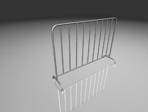 metal fence 3D
