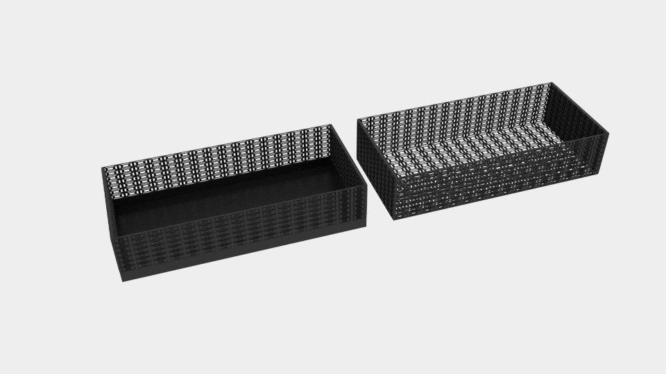 rectangle wire pattern bin 3D model