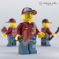 Lego Lumberjack Figure