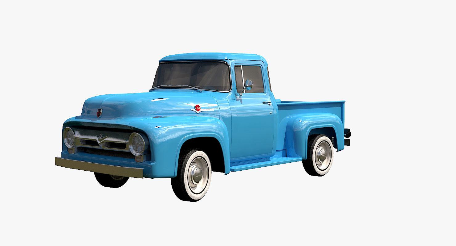 f-100 1956 3D model