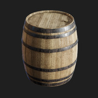 old barrel 3D model