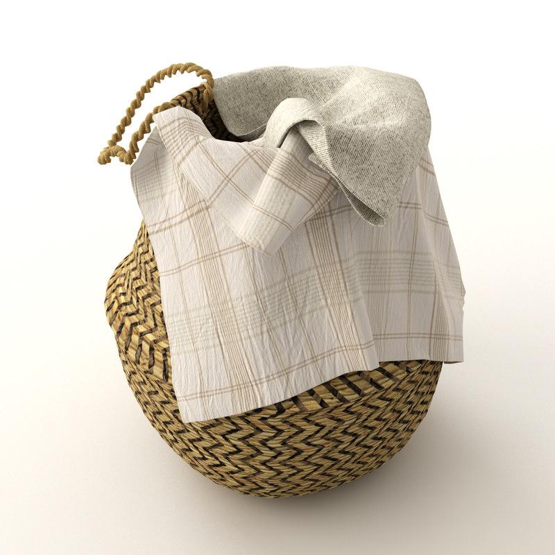 3D basket rattan model