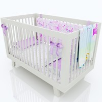 Baby cot for girl