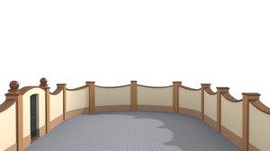 3D fences walls door