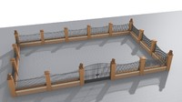 elements fences straight walls 3D