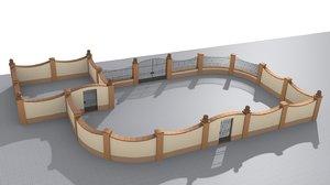 3D build fences walls set