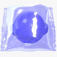 wrapped blue candy 3D model