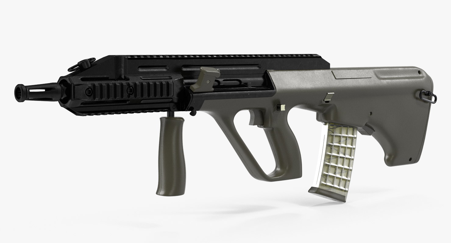 3D austrian bullpup rifle steyr aug model