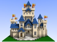 Lego Style bricks castle