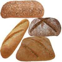 3D model photoreal breads